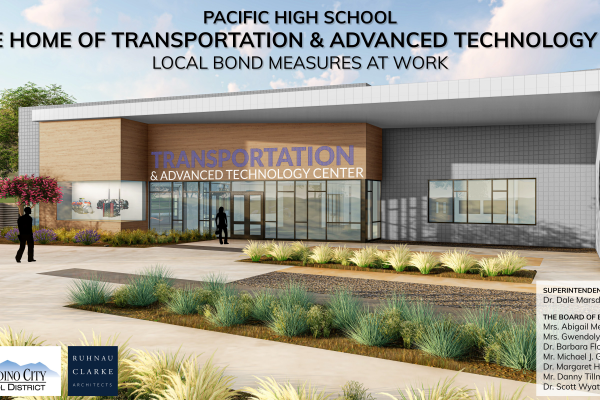 Pacific High School CTE - Transportation & Advanced Technology Center design