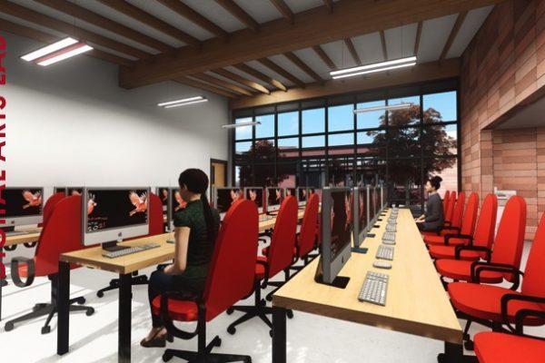 San Bernardino High School CTE - Makers Space Digital Arts Building
