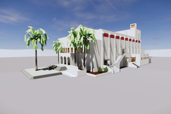 Model of completed San Bernardino High School Theatre